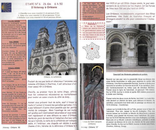 Sur le chemin de Saint-Jacques-de-Compostelle - La voie de Tours, le chemin vers l'Atlantique (Via Podiensis) - binnenbladzijden