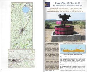 Sur le chemin de Saint-Jacques-de-Compostelle – La voie des Piémonts, entre Cévennes et Pyrénées - kaarten
