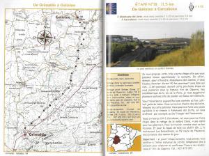 Sur le chemin de Saint-Jacques-de-Compostelle - La Vía de la Plata et le Camino Sanabrés -binnenbladzijden