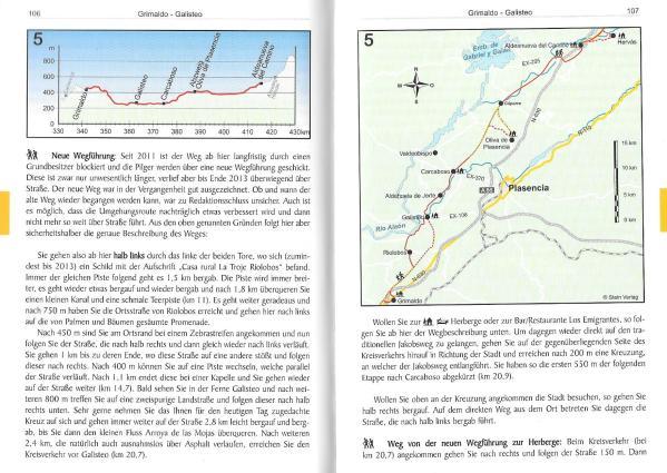 Spanien: Jakobsweg - Vía de la Plata - Mozarabischer Jakobsweg - binnenbladzijden