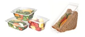 Eco-Products Clear Corn-Based Deli Containers w/ Lids