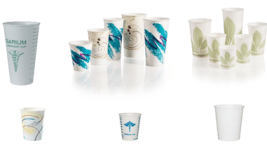Dart Container Solo® Treated & Waxed Paper Cold Cups – White, Bare, Jazz, Symphony, Meridian, Graduated & Barium Designs