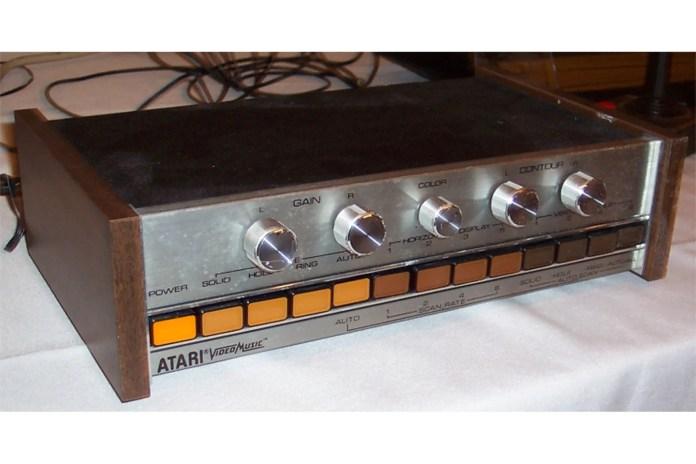 A closer shot of the Atari Video Music System.