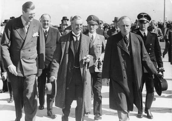 Prime Minister Neville Chamberlain.