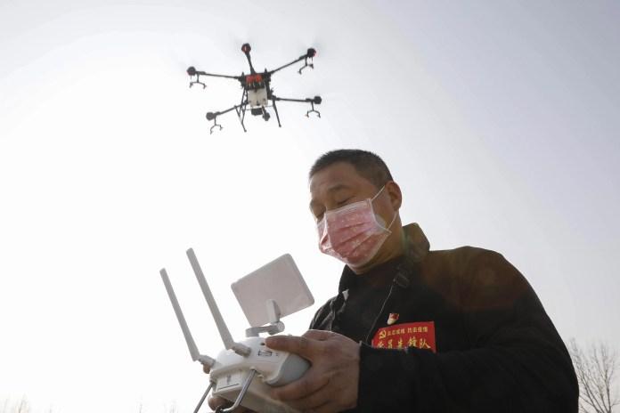 coronavirus outbreak drones