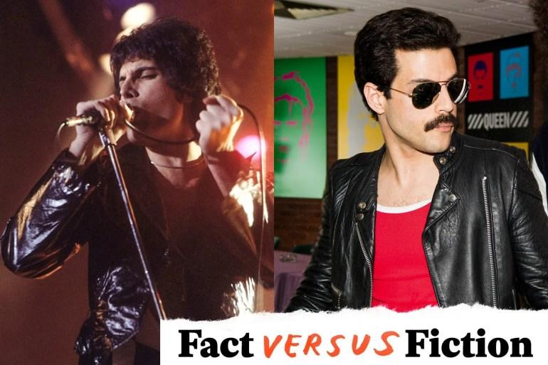 """Freddie Mercury, im wirklichen Leben und im Film. """"Srcset ="""" https://compote.slate.com/images/9196f93a-aeec-496f-9e0c-2c9846e35e51.jpeg?width=780&height=520&rect=1560x1040&offset=0x0 1x, https://compote.slate.com/images/9196f93a-aeec-496f-9e0c-2c9846e35e51.jpeg?width=780&height=520&rect=1560x1040&offset=0x0 2x"""