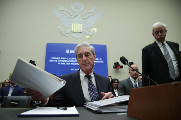 Former special adviser Robert Mueller hopes to testify before the House Intelligence Committee about his report on Russian interference in the 2016 presidential election in the Rayburn House office building on July 24, 2019 in Washington, DC