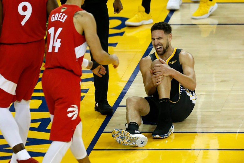 Oakland California June 13 Klay Thompson 11 Of The Golden State Warriors