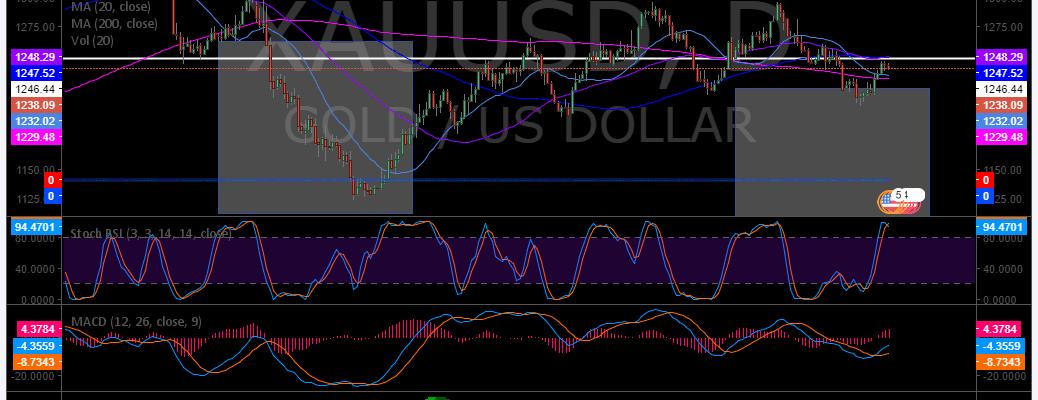 Gold, chart, premarket, trading, plan