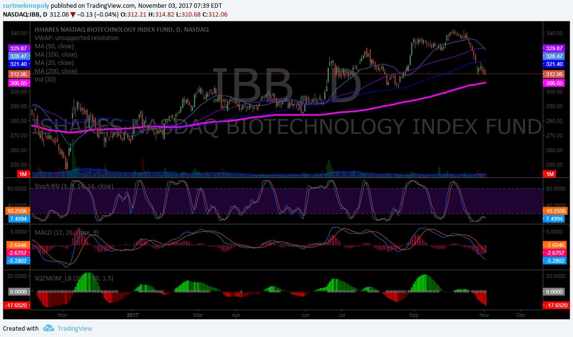 $IBB, swing trade