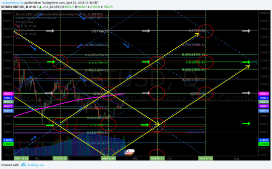 Bitcoin, chart, daily, price targets, time cycles, algorithm