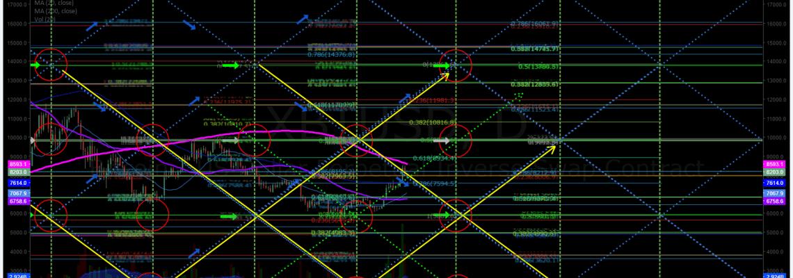 Bitcoin, daily, algorithm, chart