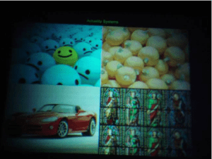 A 20 Megapixel image displayed using the projection engine shown on the right.