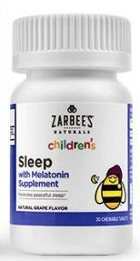 Melatonina Zarbees Naturals Childrens – 30 Tablets