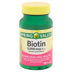 Biotin Spring Valley com 120 softgels (disponivel final Novembro_2020)