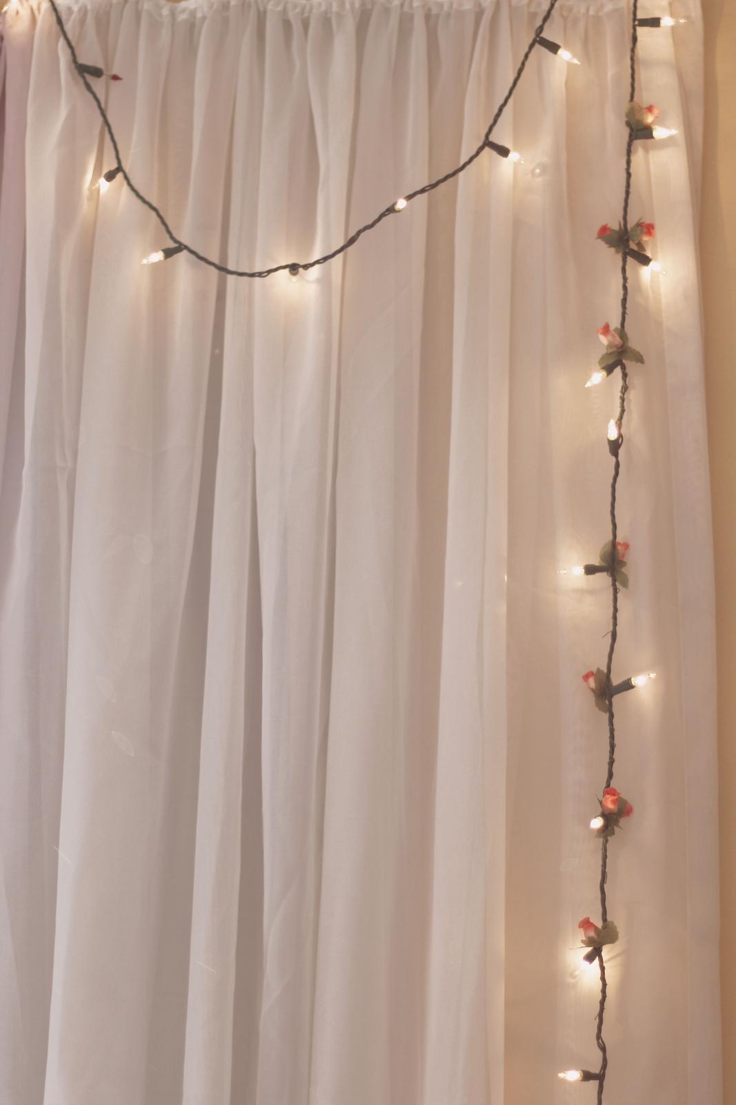 Decorao do meu quarto com luzes piscapisca Natal