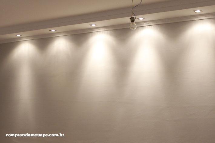 O gesso e a iluminao do meu ap Spots Super LED e