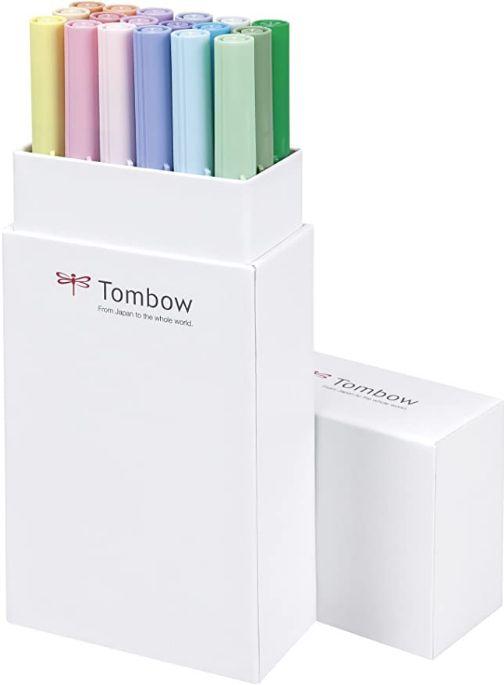Rotuladores Acuarelables Tombow - Caja vertical abierta con rotuladores