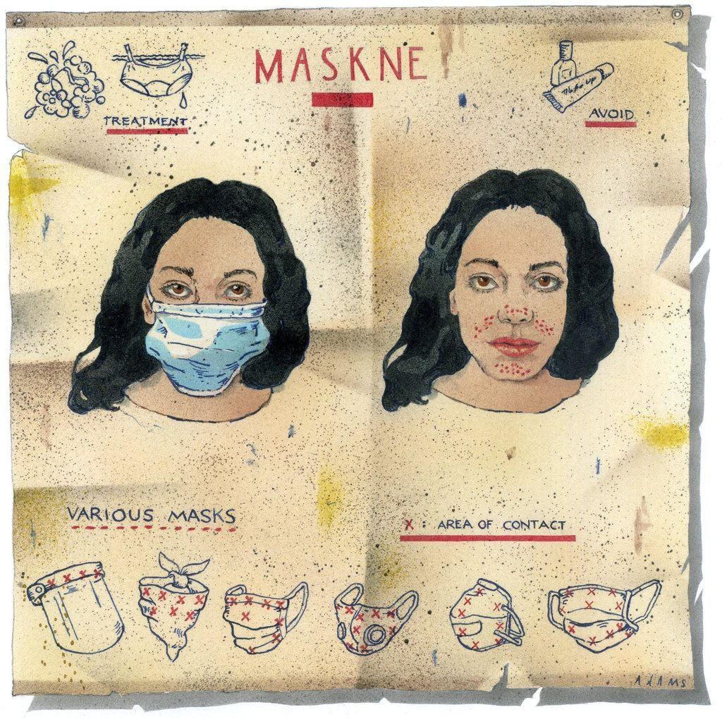 Mujer con mascarilla para evitar el Covid 19