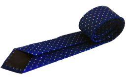 corbata azul con lunares