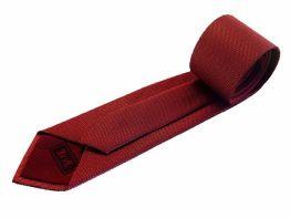 Corbata granate con negro