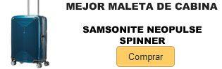 Comprar mejor maleta de cabina Samsonite Neopulse Spinner