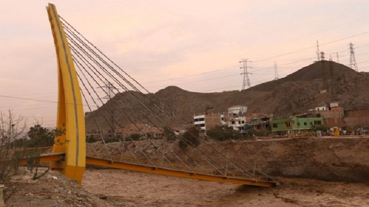 Caída de puente Solidaridad causa perjuicio de más de S/5 millones