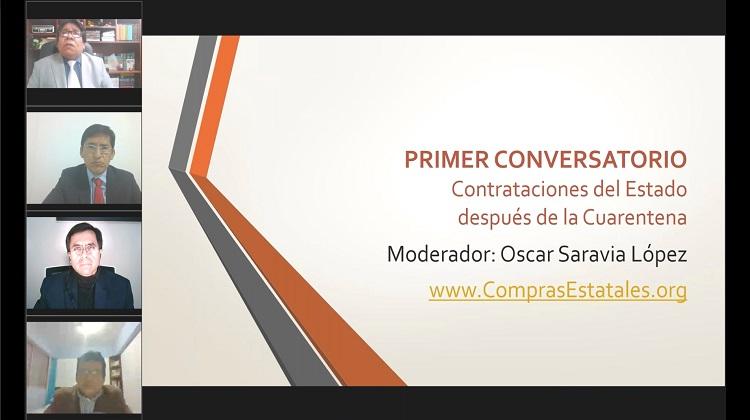 """Primer Conversatorio """"Contrataciones del Estado después de la Cuarentena"""" (VIDEO)"""