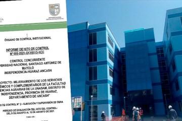 Áncash: detectan pisos deteriorados en edificio de S/ 13.9 millones que construye Unasam