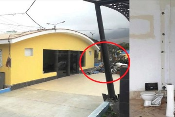 Chimbote: destruyen obra lista en el bulevar para improvisar sala de arte del alcalde