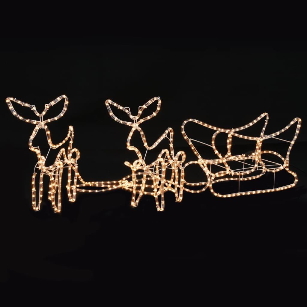 Luces de Navidad 2 Renos con Trineo 300x24x47 cm