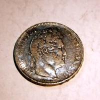 FRANCIA LUIS FELIPE I 5 FRANCOS 1837 B. M.B.C+.