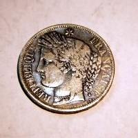 FRANCIA REPUBLICA 5 FRANCOS 1849 .A. M.B.C.