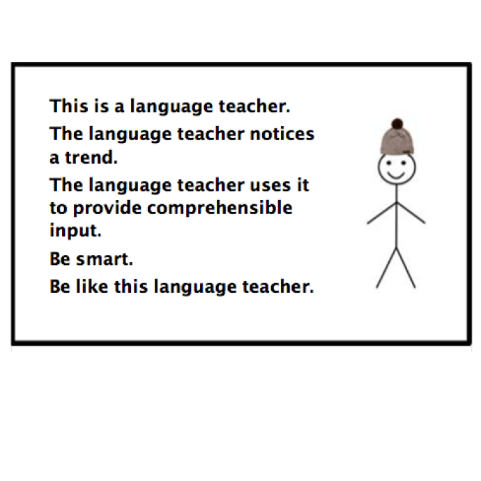 "Use the ""Be like Bill"" meme as the basis for an activity to provide comprehensible input to your language students."