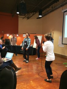 Phase 1 of the action chain: charades!