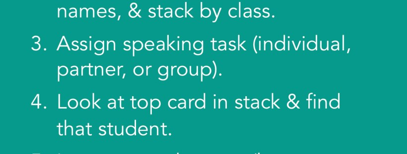 Use a stack of mini-rubrics to grade student speaking assessments on the fly - perfect for any world language class!