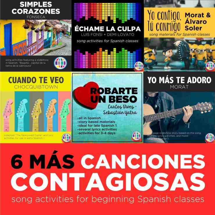Six favorite songs for Spanish 1