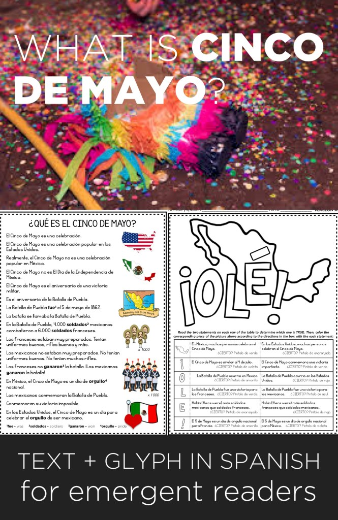Answer the question, What is Cinco de Mayo, really, with students in your Spanish classes