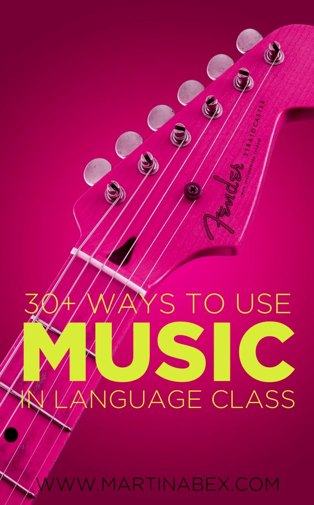 More than 30 ways to use music in Spanish class that are adaptable for any language!