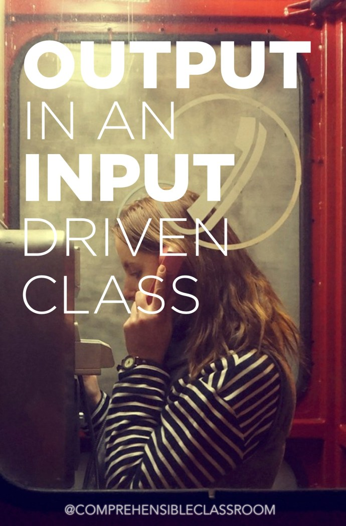 Output (writing and speaking) has an important role to play in courses centered on comprehensible input. learn more about its role here!