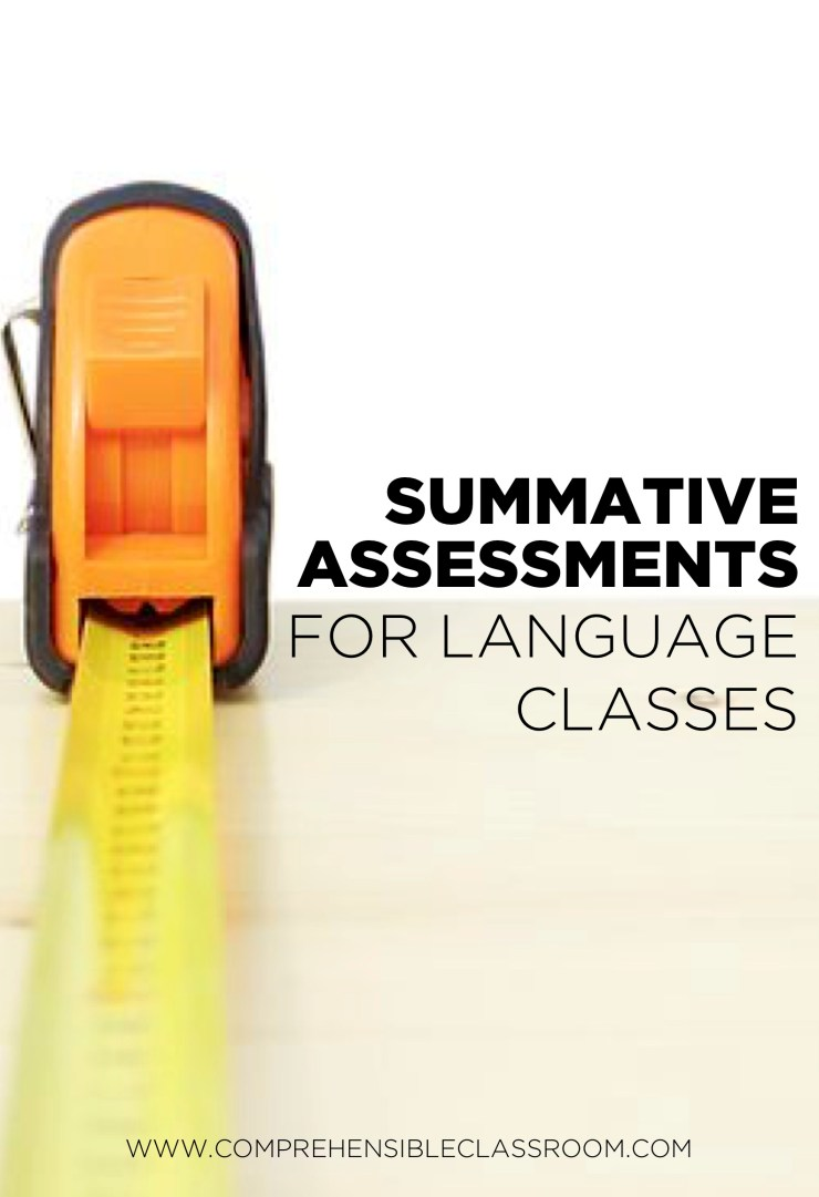 Quick summative assessment ideas for Spanish teachers and any language teacher!