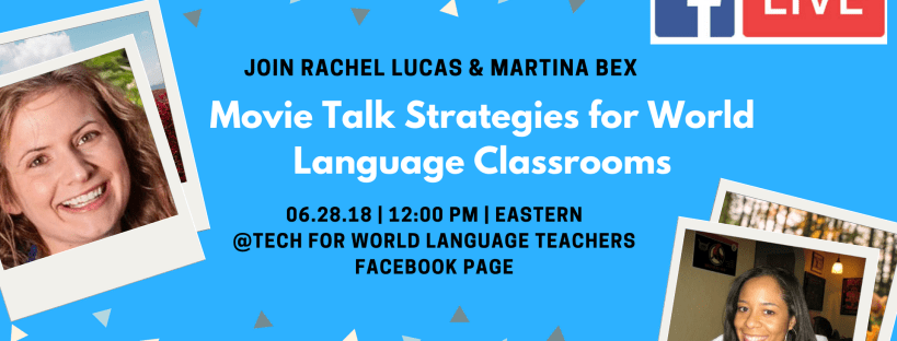 What is MovieTalk? How can you use it in language classes? Join Martina Bex and Rachel Lucas LIVE on Thursday, June 28.