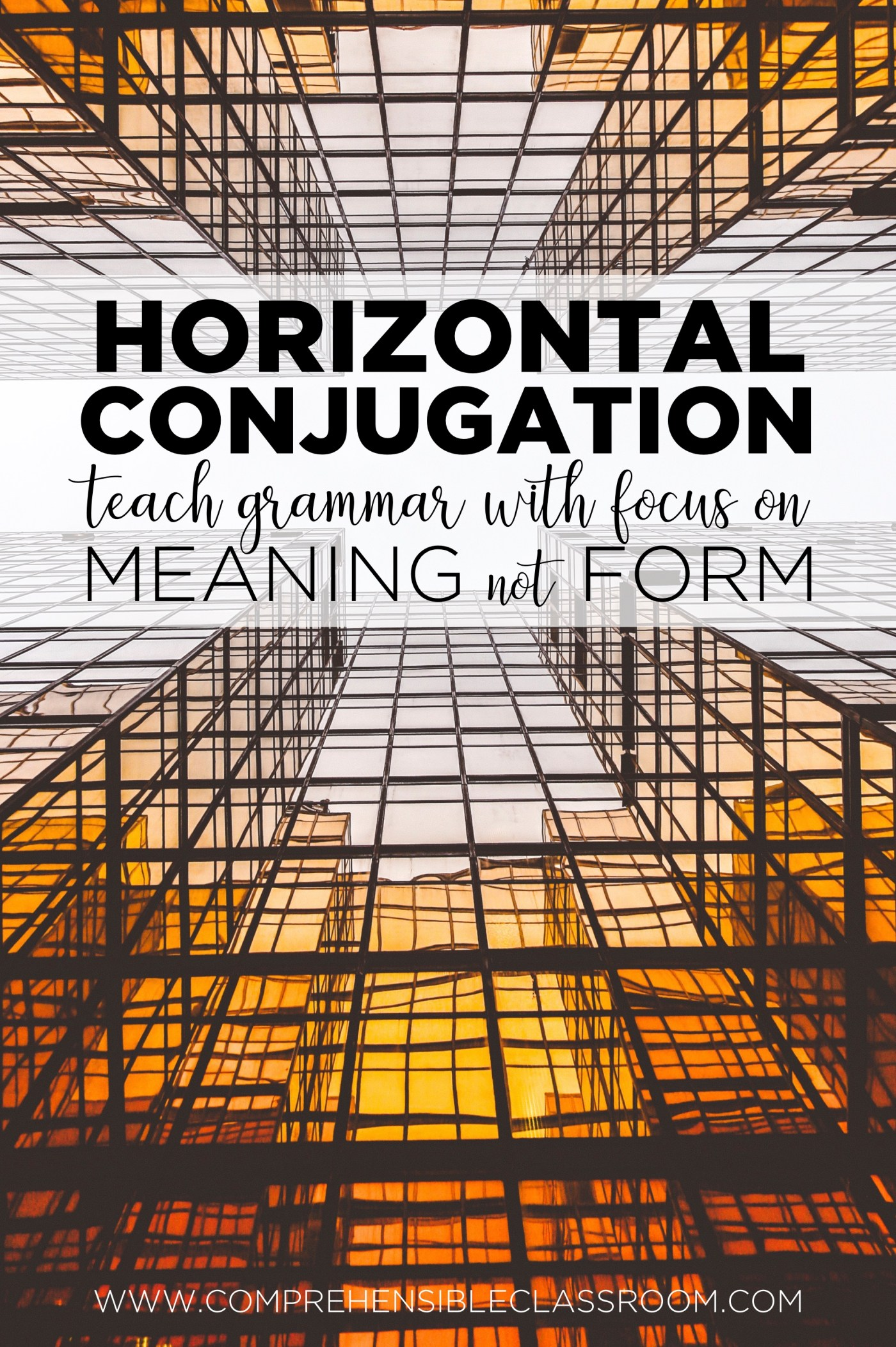 A horizontal conjugation is a way for language students to attend to the grammar and syntax of a language by considering a text in its entirety--keeping the focus on MEANING, not FORM. Learn more at www.comprehensibleclassroom.com