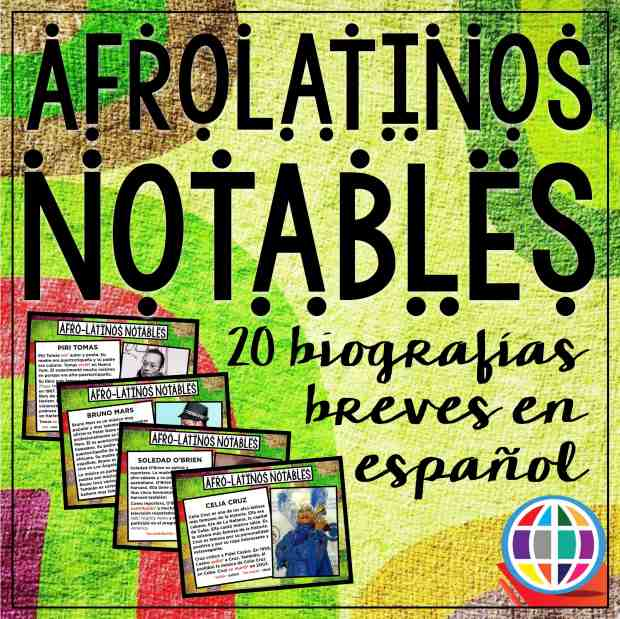 Mini biographies of 20 notable afrolatinos