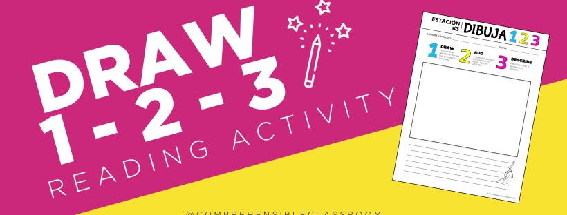 Draw 1 2 3 is a simple reading activity that helps students visualize and personalize a text and describe it in their own words
