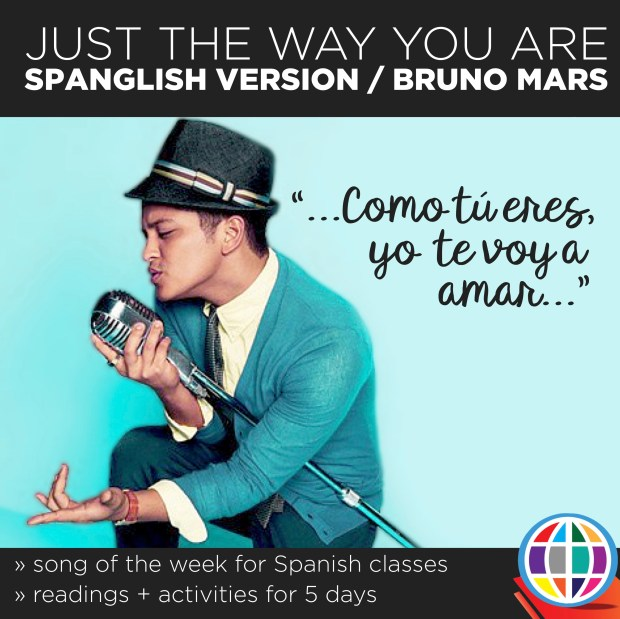 Use the Spanglish version of Just the way you are to celebrate Bruno Mars' afrolatino heritage