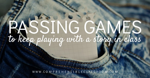 Shared a story in class and not ready to let go? Use these 3 passing games to keep playing with the story!