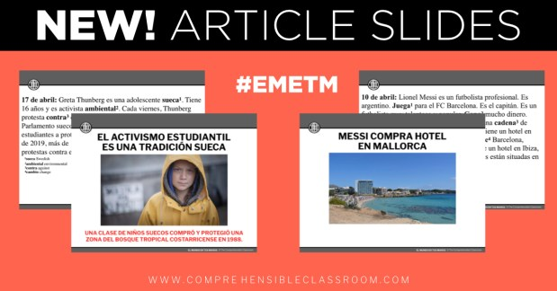 Each article will be provided in Editable, Projectable format - Easy to read together with your entire class! #EMETM » 2019-2020 subscription
