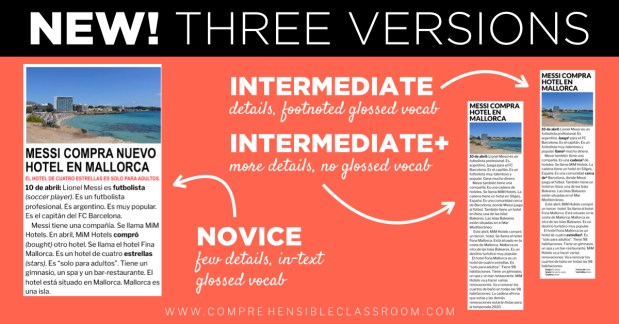 Each news story is provided in three levels of text complexity: Novice, Intermediate, and Intermediate+. #EMETM » 2019-2020 subscription