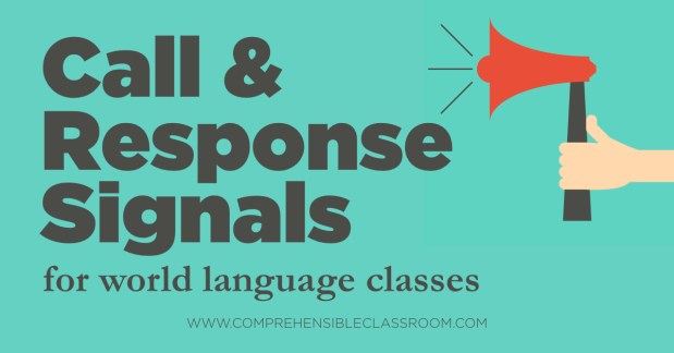 Call and response signals are an effective way to save class time by grabbing students' attention quickly and helping them transition to the next activity.